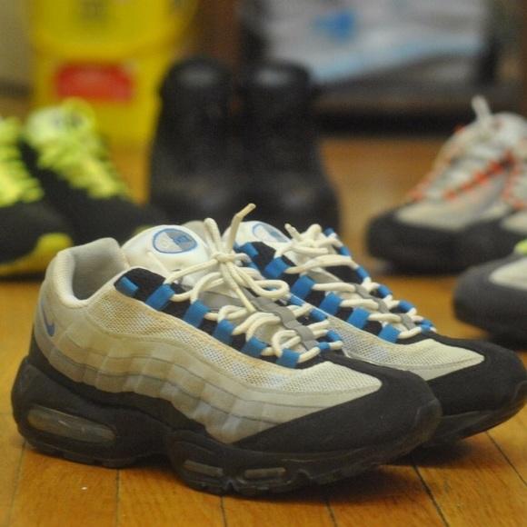 28b10c67f1 Nike Shoes | Air Max 95 Grey Blue Black White | Poshmark